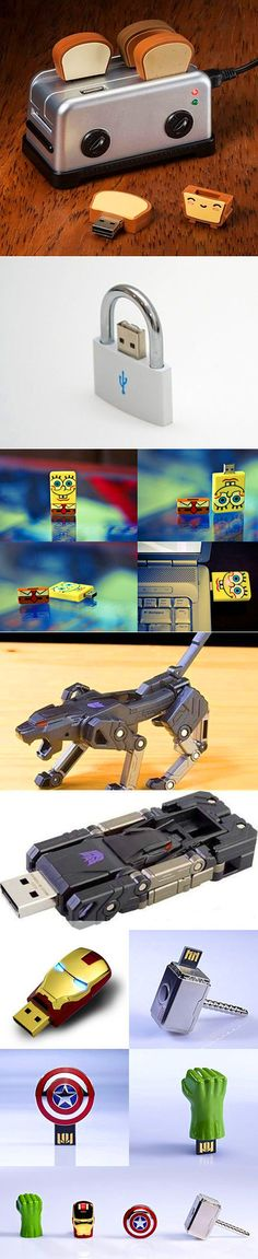 We have rounded up some fun and awesome USB drives that think outside the box.
