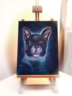 French Bulldog Acryl Painting 40x30cm Schilderij Huisdier Pets Animals