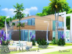 Beautiful and modern house for your Sims. Found in TSR Category 'Sims 4 Residential Lots'