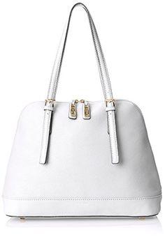 top handle bags: Isaac Mizrahi Nora Satchel,White Limo Pebble/White Lizard,One Size White Purses, Limo, Satchel, Womens Fashion, Handle, Bags, Top, Handbags, Women's Fashion