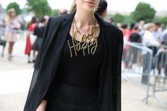Collier Lanvin http://www.vogue.fr/defiles/street-looks/diaporama/street-looks-a-la-fashion-week-printemps-ete-2014-de-paris-jour-3/15431/image/853918#!collier-lanvin