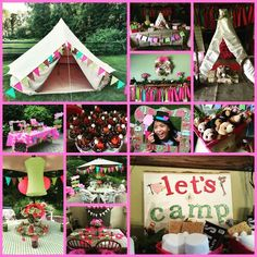 Glamping, Camping, Sleep-over, Birthday, Girl Birthday, Tween Party Birthday Party Ideas | Photo 1 of 78 | Catch My Party