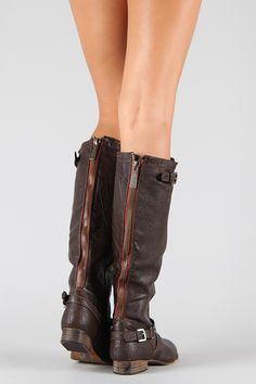 Breckelle Outlaw-81 Buckle Riding Knee High Boot Dang it.. I just bought