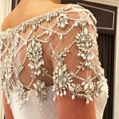 NYBFW: 29 Amazing Wedding Dress Detail Pics from Instagram | weddingsonline