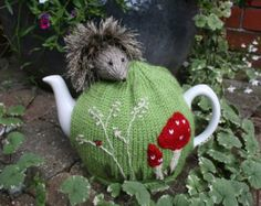Hedgehog Tea Cosy and Egg Cosy Knitting Pattern