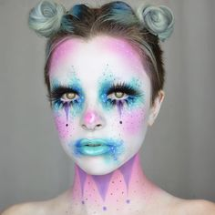 New video up on my channel! I show you how I did this lil pastel clown ✨ This was from my Collab with my lovely friend @ashmeredith_ ✨✨link in bio! Hope everyone is having a wonderful day!!!
