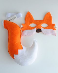 Orange Fox Mask & Tail BABY by oppositeoffar on Etsy, $36.00