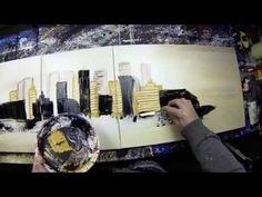 Cirisium (Short version) - Abstract acrylic painting Demo by John Beckley HD Video