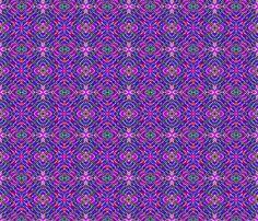 Tile-weave_purple pink blue_star fabric by koalalady on Spoonflower - custom fabric