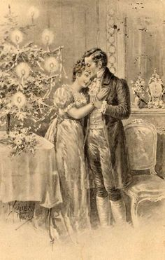Victorian Christmas Postcard Kranzle