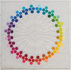Huckleberry {Modern Rainbow}, all machine pieced and beautiful quilting