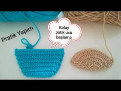 PATİK UCU BAŞLAMA ŞEKİLLERİ #tığişi #patikucu #patikburnu #kolaypatikucu #knitting #croched - YouTube Crochet Doily Patterns, Baby Knitting Patterns, Crochet Doilies, Crochet Stitches, Cool Paper Crafts, Diy And Crafts, Crochet Baby Sweaters, Crochet Boots, Straw Bag