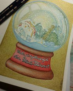 Vera Draw (@vera.draw) • Fotky a videa na Instagramu Insta Art, Snow Globes, Christmas Cards, Pencil, Ink, Drawings, Artwork, Color, Christmas E Cards