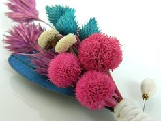 Pink Blueberries - Pink Blue Purple Boutonniere. so cute! lol