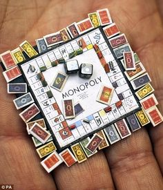 mini monopoly.. I like this idea for a Christmas decoration