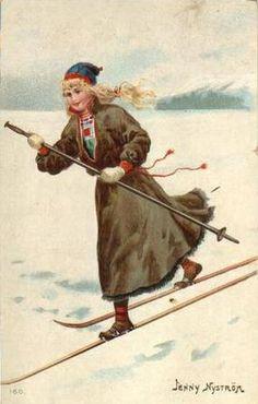Winter Lady Jenny Nystrom Jenny Nyström Sweden 1854 - 1946