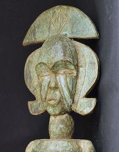 Statue Kota Bakota Gabon figure Arts Premiers Africain placage de cuivre 85 cm | eBay