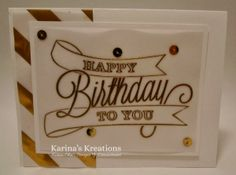 Stampin'Up Another Great Year Card! Details on http://www.karinaskreations.com/