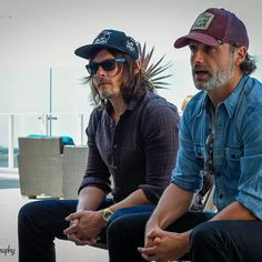 New photo of Andy and Norman in an interview at the San Diego Comic Con 2016.  #AndrewLincoln #NormanReedus