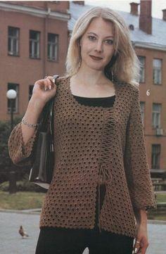 Open work crochet cardigan -1-