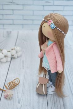 Muñeca de tela GRATIS envío textil muñeca bebé muñeca Bambole di stoffa Tilda muñeca rosa muñeca rag muñeca hecha a mano muñeca muñeca Muñecas por Kristina Sock Dolls, Felt Dolls, Doll Toys, Baby Dolls, Russian Baby, Muñeca Diy, Pink Doll, Sewing Dolls, Crochet Baby Booties