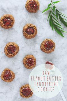 Festive Friday // Raw Peanut Butter Thumprint Cookies with Raspberry Chia Jam