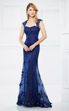 Buy the P by moncheri2017fall at CoutureCandy.com, shop moncheri2017fall 217934 Lace Queen Anne Dress now for attractive discounts.