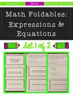 *******50% OFF for the first 48 hours!!!*******These math foldables are for students to be able to solve linear equations with one variable, give examples of linear equations, solve linear equations with rational numbers, and solve inequalities. Included are: -11 different NO PREP Math Foldables to engage students in note taking-Teacher facilitated activity for 15-20 minutes of classroom time each-PRINT & GO teach foldables that are ready with NO PREP-Directions for using Math Foldables ...