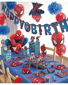 spider-man® party Love the bridge cupcake holder.