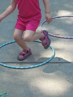 Hopping Hula Hoop Game, add tissue paper for flames. Letter H Activities, Outside Activities, Gross Motor Activities, Gross Motor Skills, Preschool Lessons, Summer Activities, Preschool Activities, Outdoor Activities, Teach Preschool