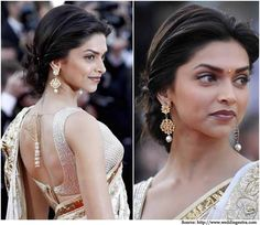 34 ideas for wedding hairstyles indian deepika padukone Saree Hairstyles, Low Bun Hairstyles, Trendy Hairstyles, Deepika Padukone Hairstyles, Puff Hairstyle, Indian Wedding Hairstyles, Bridal Hairstyles, Hairstyle Wedding, Hair Puff