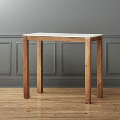 palate marble high dining table  | CB2