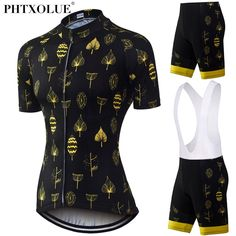 Phtxolue Women Cycling Clothing 2017 Race Cycling Clothes Yellow Short  Sleeve Summer MTB Bike Bicycle 86711bd77