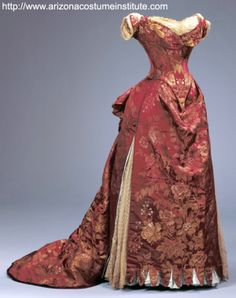 Creating a turn brocaded silk, circa 1885