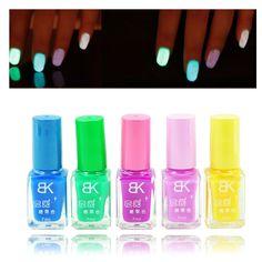 5 unids colores del caramelo lacas de uñas fluorescente luminoso de neón que brillan en la oscuridad barniz del arte del esmalte en Esmalte para Uñas de Salud y Belleza en AliExpress.com   Alibaba Group