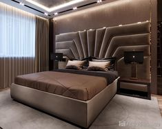 Bed Headboard Design, Bedroom False Ceiling Design, Master Bedroom Interior, Bedroom Closet Design, Bedroom Furniture Design, Modern Luxury Bedroom, Luxury Bedroom Design, Luxurious Bedrooms, Cama Design
