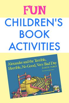 Children's book activities for Alexander and the Terrible Horrible. Kids book ideas. Reading lessons. Reading lesson plans. #reading #readinglessons #childrensbooks #kidsbooks
