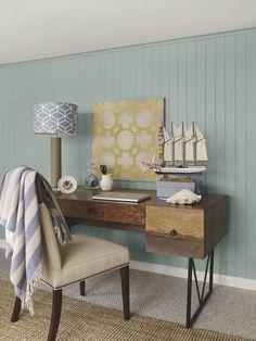 walls: stratton blue (HC-142), trim & ceiling: simply white (OC-117), accent color: van courtland blue (HC-145)