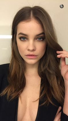 Pinterest: DEBORAHPRAHA ♥ Barbara Palvin hair and makeup are perfection here #barbarapalvin