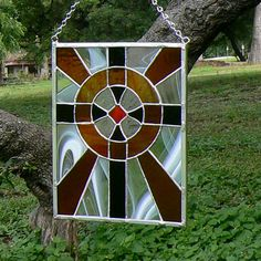 Stained Glass Cross Sun Catcher