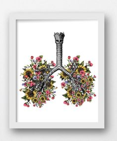 Flower Lungs Sunflower Floral Lungs Lungs with by MaxMeOneUniverse