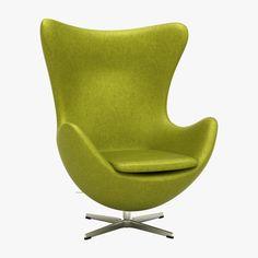 3D Arne Jacobson Egg Chair Model - 3D Model
