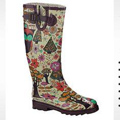 """""""Gypsy Owl"""" Rain boots"""
