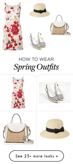 """""""Spring Outfit"""" by elisa-cinelli on Polyvore featuring Dolce&Gabbana, Stuart Weitzman, Kate Spade, Parkhurst, dolceandgabbana, florals, springfashion, daisies and poppies"""