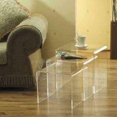 Mesas triplas em acrilico