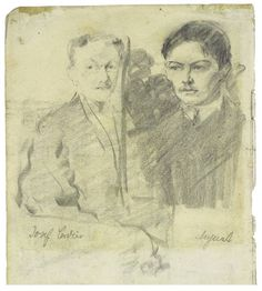 August_Macke  Self with Josef Cordier  Source Wkimedia Commons
