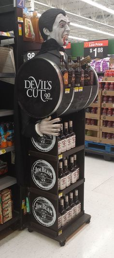 Jim Bean Devil's Cut Quarter Pallet will certainly interrupt and grab your attention #POS #Retail #Shoppermarketing