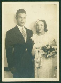 Porfirio Rubirosa on his wedding day to his first wife, Flor de Oro Trujillo, 1932. Rubirosa was an adherent to Trujillo's father, famed Dominican dictator Rafael Trujillo, and was rumored to be a political assassin under his regime. He would later gain fame as a professional polo player and international playboy and went on to marry two of the richest women in the world.