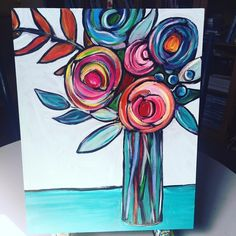 Snuck in a few minutes to paint before getting ready for the last class of the semester! Art Journal Inspiration, Painting Inspiration, Diy Painting, Painting & Drawing, Wal Art, Paintings I Love, Abstract Flowers, Acrylic Art, Flower Art