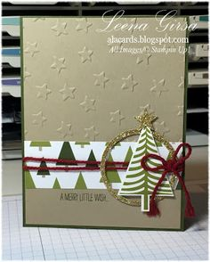 A La Cards: Merry Little Wish - SU - Christmas card featuring the Festival of…